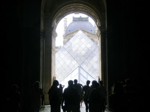 Chegando ao Louvre
