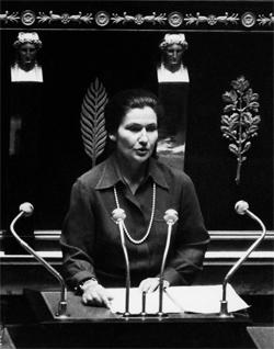 Simone Veil na Assembléia National