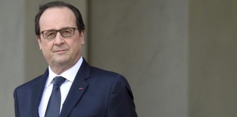 François Hollande sur le perron de l'Elysée, le 2 mars 2015. (ERIC FEFERBERG/AFP)