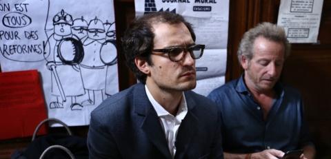 Louis Garrel en JLG et Guillaume Schiffman, chef opérateur attitré de Michel Hazanavicius.